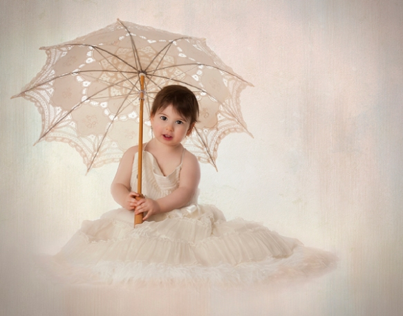 Princess holding umbrella