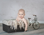 Baby in a basket!
